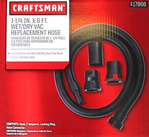 Craftsman 1 1/4-inch x 6-foot Wet/Dry Vac Replacement Hose