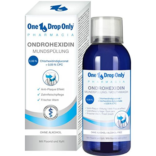 One Drop Only ONDROHEXIDIN Mundspülung Chlorhexidin Mundspüllösung 0,06% CHX ohne Alkohol