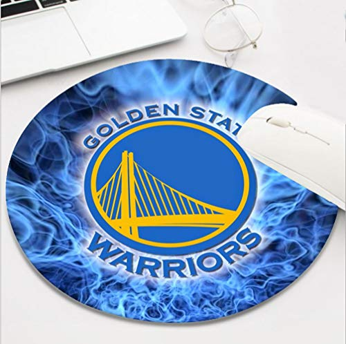 Round Basketball Team Mouse Pad,Cute and Funny Non-Slip Base Life Needs Sport Mousepad, Golden State Funs Gift Mouse Mat