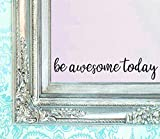 BERRYZILLA Be Awesome Today Decal 16' X 3.5' Quote Mirror Quotes Vinyl Wall Decals Amazing Walls Stickers Home Decor