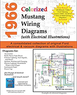 [SCHEMATICS_4PO]  1966 Colorized Mustang Wiring Diagrams, Motor Company, Ford, eBook -  Amazon.com | 1966 Mustang Colorized Wiring Diagram Ford For Sale |  | Amazon.com