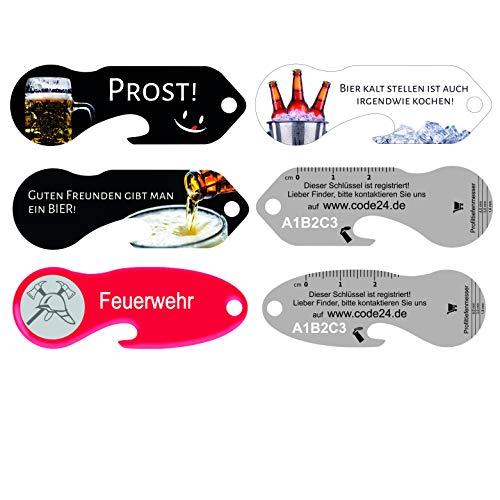 einkaufswagenlöser Durstlöscher-Set 4 Verschiedene Schlüsselfund-Service und Flaschenöffner