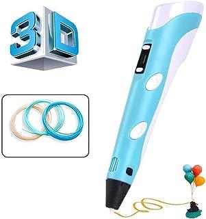 Stylo d'impression 3D, stylo 3D professionnel avec écran LCD et Température Réglable/Vitesses, stylo de dessin 3D compatib...
