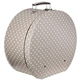 Lierys Caja para Sombrero Lunares Beige Mujer/Hombre - Made in The EU sombrerera Verano/Invierno - Talla única Beige