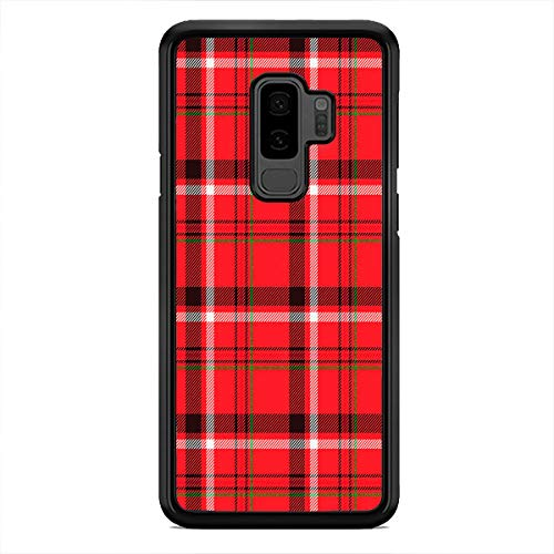 Red Plaid Checkered Phone Case Christmas Custom Case Cover for Samsung Galaxy S20 Ultra S10 Plus S10e S9 Plus S8