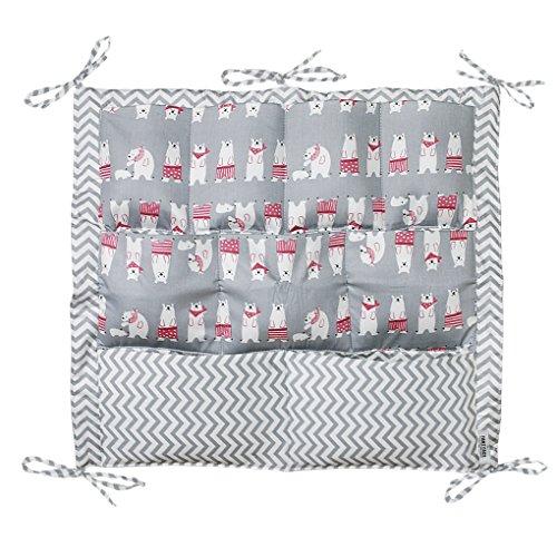 Bébé Sac Pochette de Rangement pour Lit Bébé Sac à Main Sac Organisateur pour Lit Bébé Storage Bags Pochette Bébé Table de Chevet Panier de Stockage en Coton Sac à Couche