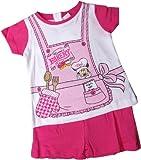 Disney Minnie Maus Zweiteiler/Schlafanzug/Shirt und Shorty - Minnies Bakery - Pink/Weiß/Mehrfarbig