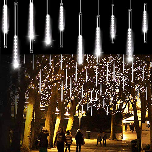 Aluan Christmas Lights Meteor Shower Rain Lights 10 Tube 240