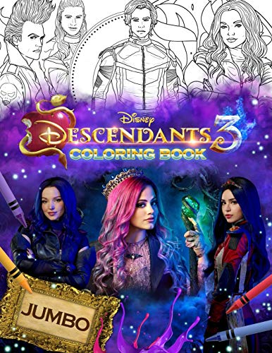 Descendants 3 Coloring Book Jumbo Descendants 3 Coloring Book With 33 Premium Images