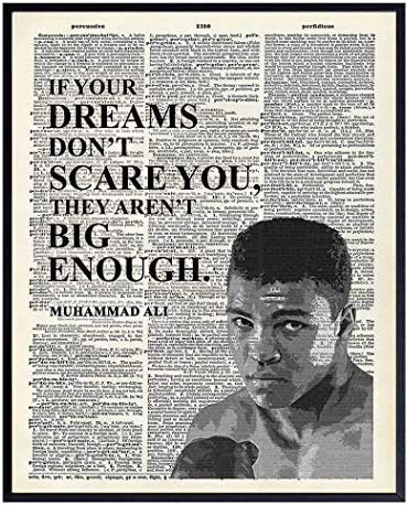Muhammad Ali Motivational Quote Dictionary Wall Art Print 8x10 Photo Poster Home Living Room product image