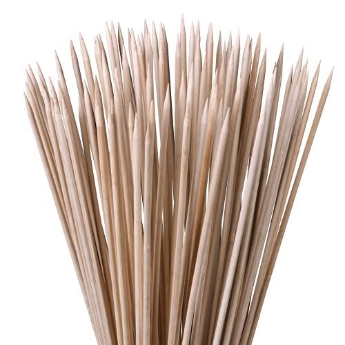 100 Pflanzstäbe Bambus Holz 90 cm lang 6 mm Dm. I Rankhilfe für Pflanzen I Bambusstäbe als Pflanzenstütze und Rankstäbe, Blumenstangen, Tomatenstangen