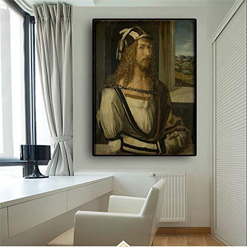 SQSHBBC Vintga Albrecht Durer Retrato Pintura al óleo sobre Lienzo Marcos de Fotos para Varias Fotos