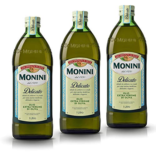 3x Monini Delicato Extra Natives Olive Olivenöl 1L nativ italien olio oliva
