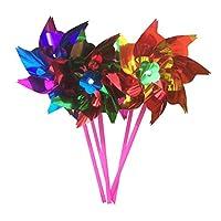 手芸 DIY風車キット 約100枚入り 光沢 花風車 プラスチック製 おもちゃ 子ども スパンコール