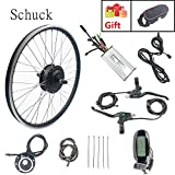 Schuck Kit de conversión de Bicicleta eléctrica,36V 500W Precursor Motor, Kit de conversión de Motor de Bicicleta E-Bike de 27.5 Pulgadas Pantalla LCD6