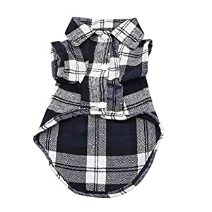 YAODHAOD Dog Plaid Shirt, Pet Fashion Plaid Shirt Pet Dog Clothes, Cat Plaid Clothes Shirt