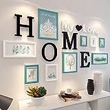 OLDJTK Marco de Fotos Moderno de Madera Conjunto de decoración de Pared 12 PC/Set Marco Rectangular con galería de Letras para el hogar (Color : D)