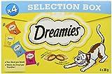 Dreamies Aperitivos para Gatos con Diferentes sabores – Pollo, Queso, Vacuno y salmón – crujientes en el Exterior e Interior cremoso – 16 x 30 g