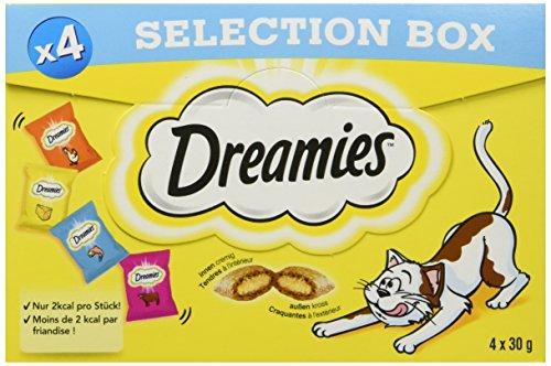 Dreamies - Aperitivo para Gatos - golosinas con Textura crujiente y Relleno cremoso, Varios sabores y tamaños