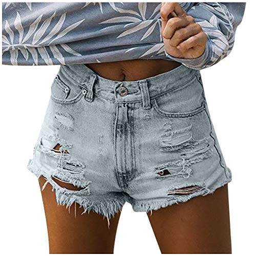 Weant Damen Jeans Shorts Sommer Kurze Hosen Mode Teenager Mädchen Jeans Hosen Stretch Zerrissen Sexy Hotpants Jeanshosen Denim Shorts Bermuda Shorts Freizeitshorts