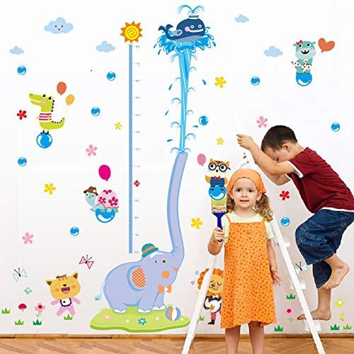 Wall Sticker Cartoon Animal Grow Height Measuring Ruler Nursery Children Kids Room Removable Tile Door Decal Decor Mural