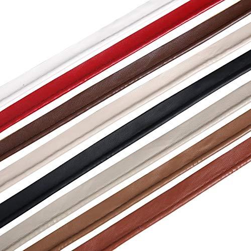Ruban sangle imitation Passepoil corde cuir souple et résistant neotrims pour anse,poignée,bordure,rebords de sac,vêtements,ceinture,accessoires,bracelet.7 couleurs neotrims