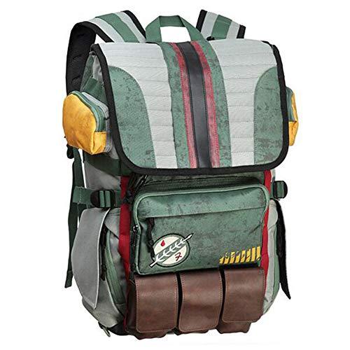Star Wars Backpack - Laptop knapsack School Bag - Boba Fett Stormtrooper Mandalorian (Boba Fett)