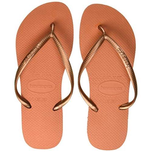 Havaianas Slim 4000030 Infradito Donna, Arancione (Bronze Orange 7185), 33/34 EU