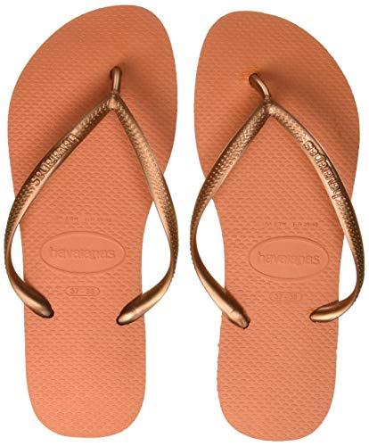 Havaianas Slim 4000030 Infradito Donna, Arancione (Bronze Orange 7185), 37/38 EU