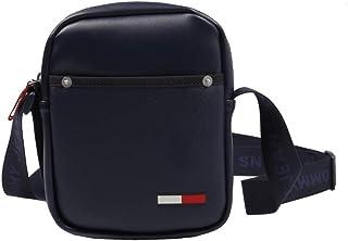 حقيبة كتف صغيرة من البولي يوريثان للرجال من تومي جينز، أزرق - AM0AM06149