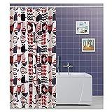 FERIDRAS 187069Duschvorhang, Polyester, Mehrfarbig, 5x 120x 200cm