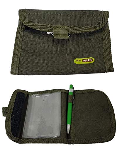 Portadocumenti in cordura colore verde Porta licenza, porto d'armi Leggero e poco ingombrante