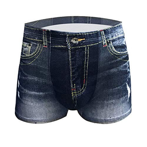 HUABEI Men's Underwear A-1 Men's Underwear A-1 Denim briefsA-1Dark blueA-1L Z1