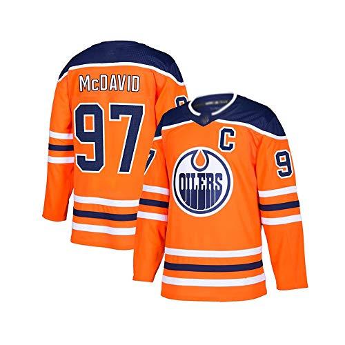 ZRHXN Edmonton Oilers Team #97 McDavid Hip-Hop-Kleidung für Party, Sweatshirt Hockey-Fan Retro-Sport-Top (S-XXXL),XL