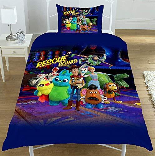 """Wendbares Disney Toy Story Junior/Kleinkind/Kinderbett Bettbezug-Set für Mädchen und Jungen (Toy Story """"Rescue Squad"""", Kinderbettgröße)"""