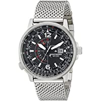 Deals on Citizen Mens Eco-Drive Nighthawk Mesh Watch w/Black Dial