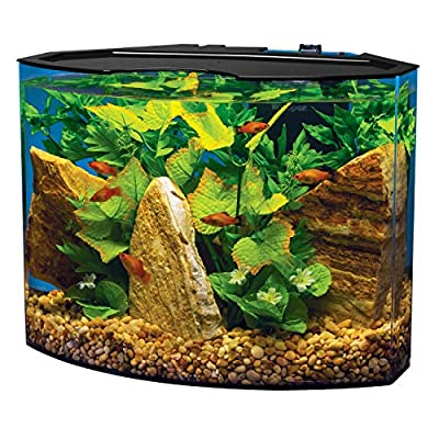 Tetra Curved-Front Tank with LEDs Crescent Aquarium Kit