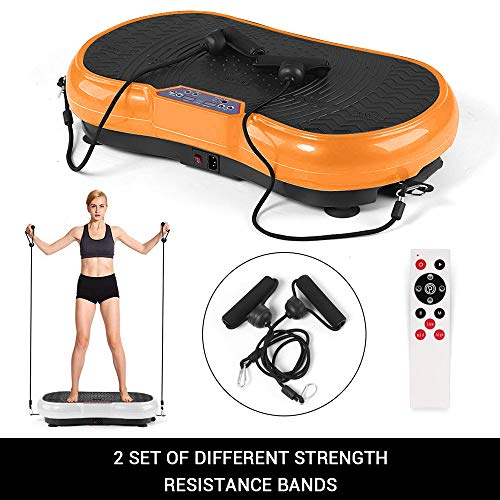 Sterling Power Vibration Plate Exercise Fitness Slimming Full Body Shaper Weight Loss Machine with Running, Jogging and Walk Mode White