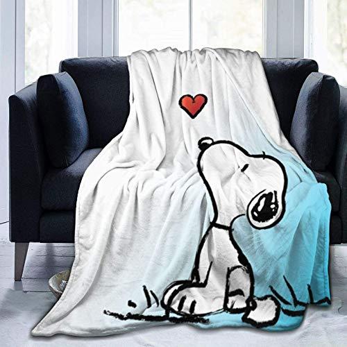L.Fenn Manta Mantas Suaves y cálidas para Ropa de Cama Dibujos Animados Snoopy Estera del Escritorio de Oficina del Ordenador portátil 30 * 80 cm