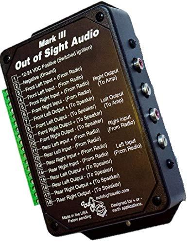 Mark 3 - Secret or Hidden Audio Device - Classic/Vintage Car Radio - 4 Speakers & RCA Pre-amp outputs