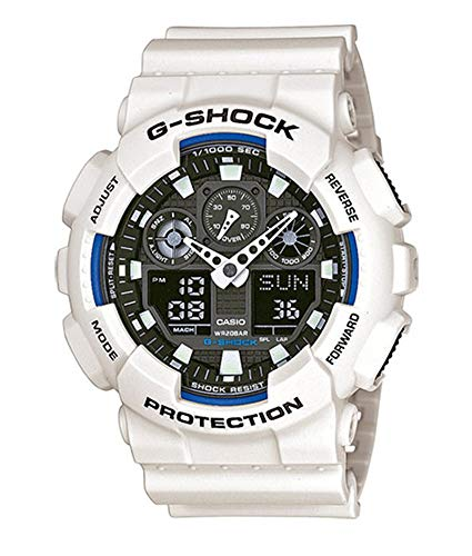 Casio G-SHOCK Reloj Analógico-Digital, 20 BAR, Blanco, para