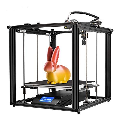 Aibecy Creality 3D Ender-5 Plus Imprimante 3D Kit de bricolage 350 x 350 x 400 mm Grand volume de construction avec écran tactile de 4,3 pouces Plaque en verre trempé amovible Axe double et axe Z