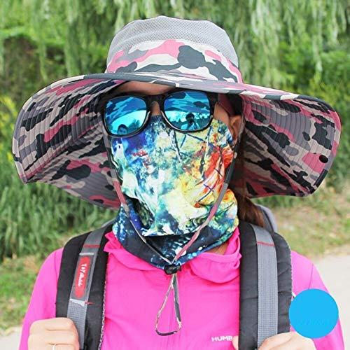 LGQBH Herren Sommerhut Sommer Sonnenhut Herren Weiches Brot Faltbar Outdoor UV-Schutz Angeln 10 breiter Krempe Camouflage Farben 10#