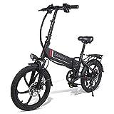 MOVIGOR Bicicleta eléctrica 350 W 20 pulgadas, aleación de aluminio, bicicleta eléctrica para adultos, plegable, bicicleta eléctrica de 7 velocidades, con batería de litio extraíble de 48 V 10,4 A