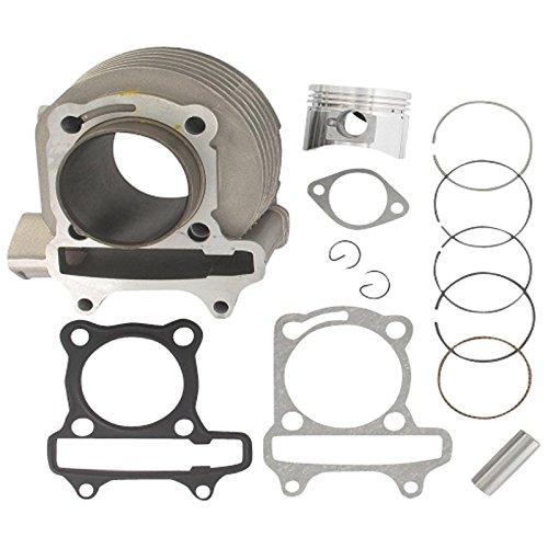 xfight de parts kit cylindre 57,4 mm complet avec piston avec valve poches, boulons dichtg. 4takt 150 ccm 157QMI (GY6) 572606