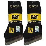 Caterpillar Outdoor socks 6 pares de calcetines para hombre en algodón suave con control de humedad, puntera y talón reforzados (Marrón, 41-45)