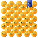 KEVENZ 100-Pack 3-Star 40mm Table Tennis Balls,Advanced Training Ping Pong Balls (Orange)