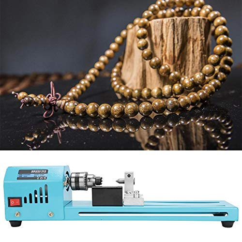 Sale!! Lathe Woodworking Tool, Mini Lathe Beads Polisher DIY Craft Polishing Machine Woodworking Too...