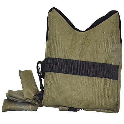 HunterBee Tiro resto bolsa trasera delantera bolsa de arena soporte al aire libre sin relleno Banco Caza titular (solo bolsa) Ejército verde