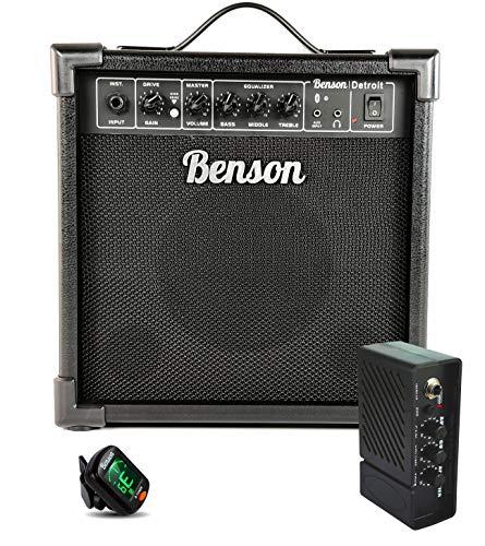 Benson Detroit 20 watt guitar Amplifier (Overdrive + 3 band EQ + Bluetooth) FREE pocket amp and electronic tuner